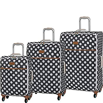 Image of Luggage it luggage Summer Spots 3 Piece Lightweight Expandable Spinner Luggage Set (Dark