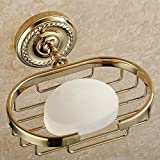 HOMEE All Copper European Style Soap Rack Bathroom Soap Dish Goods Rack Pendant