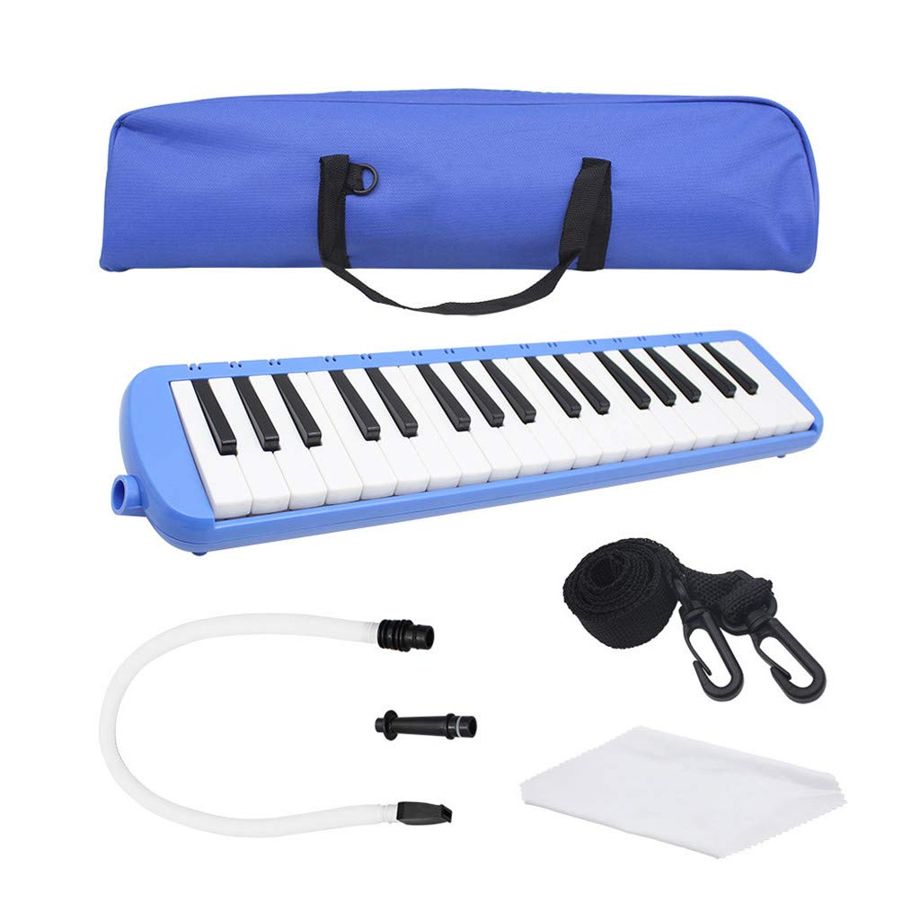 Whryspa 37 Key Piano-Style Melodica,More Tunes Available, Easy to Control, Suitable for Teaching, Performance, Piano Enlightenment,Blue