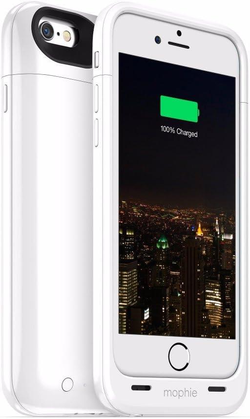 Mophie Juice Pack Plus - Carcasa con batería para Apple iPhone 6, 3300 mAh, color blanco: Amazon.es: Electrónica