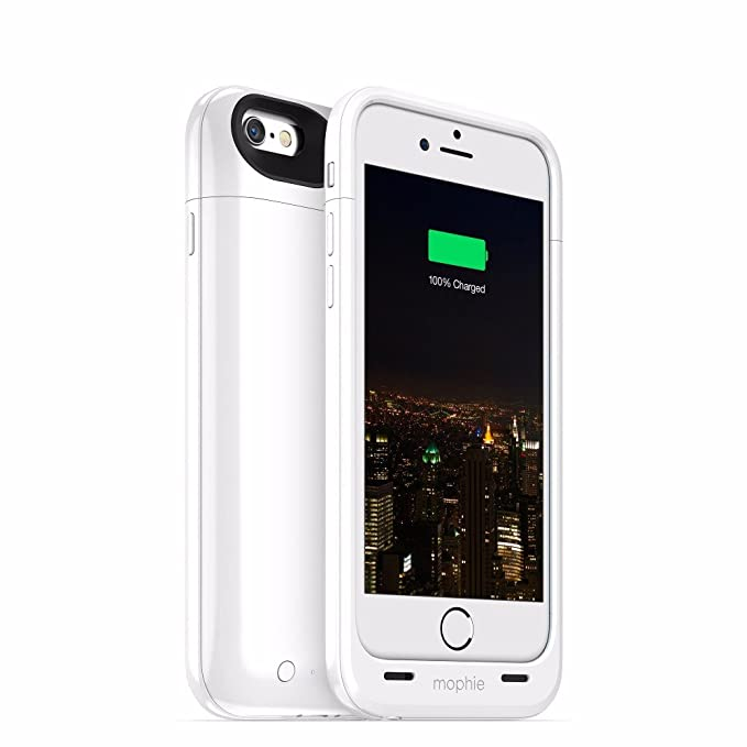 low priced f0a6b 34891 mophie Juice Pack Plus - Protective Mobile Battery Pack Case for iPhone  6/6s - White