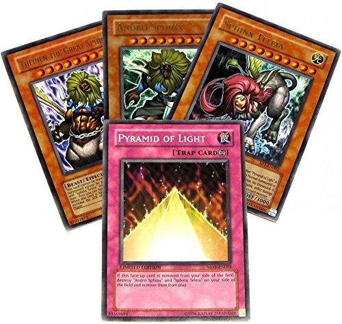 YuGiOh Sphinx's Pyamid of Light 4-Card (Yu Gi Oh Sphinx)