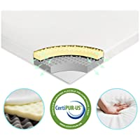 Vesgantti 6cm Mattress Topper Double, 2-Layer Memory Foam Mattress Topper Double Bed
