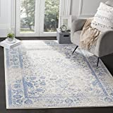 Safavieh Adirondack Collection ADR109L Ivory and Light Blue Oriental Vintage Distressed Area Rug (8' x 10)
