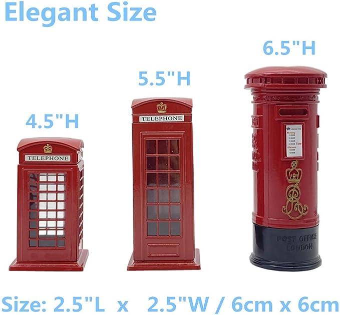 2 x Coasters Red Telephone Box London Home Gift #13208
