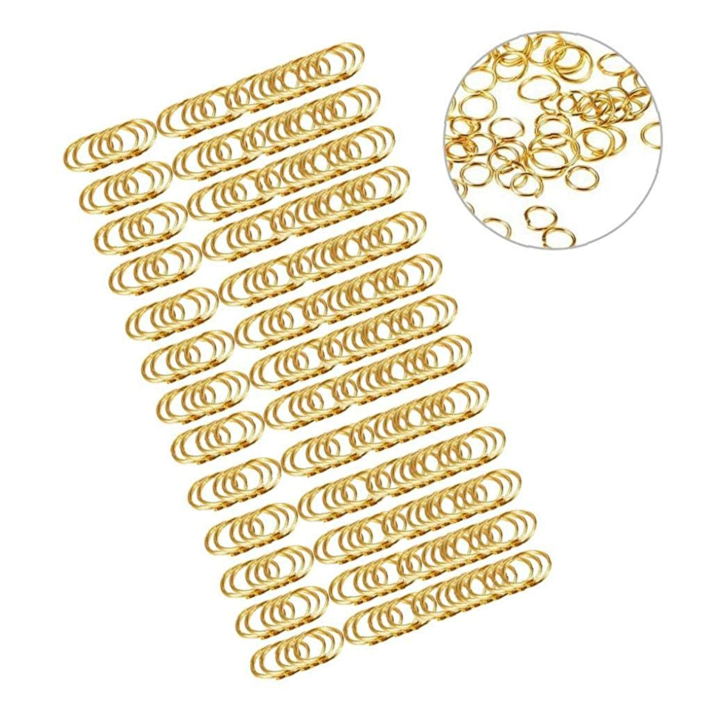 hEziJpTnA Premium Closed Jump Rings Connecting Rings Alloy Jump Ring for DIY Decoration Craft Jewelry Findings 6 Sizes with Lobster Clasp 1450Pcs Gold