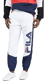 Fila Homme Jogging Gunner Velour Mesh Stripe, Bleu, XL