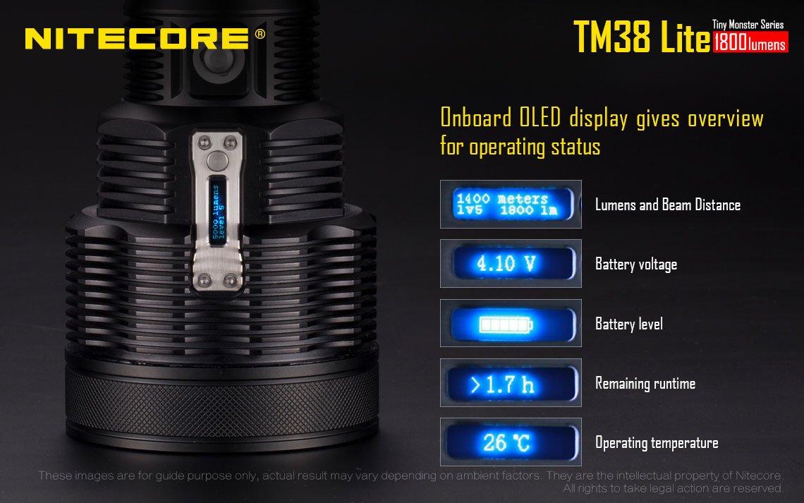 Nitecore TM38 Lite CREE XHP35 HI D4 Long Throw LED Flashlight w/FREE Nitecore NU05 Kit by Nitecore (Image #2)