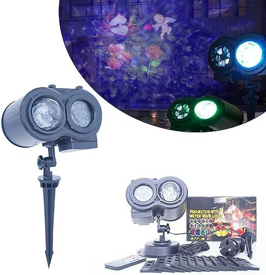 HYLH Luz de proyector de Navidad, proyector Doble Luces LED de ...