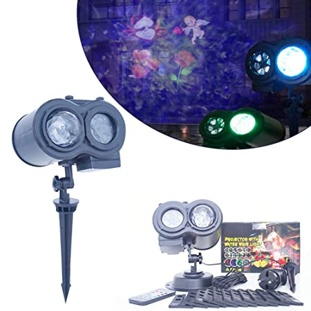 HYLH Luz de proyector de Navidad, proyector Doble Luces LED ...