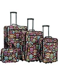 Jungle Softside Upright Luggage Set, Owl