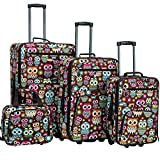 Rockland Jungle Softside Upright Luggage Set, Owl