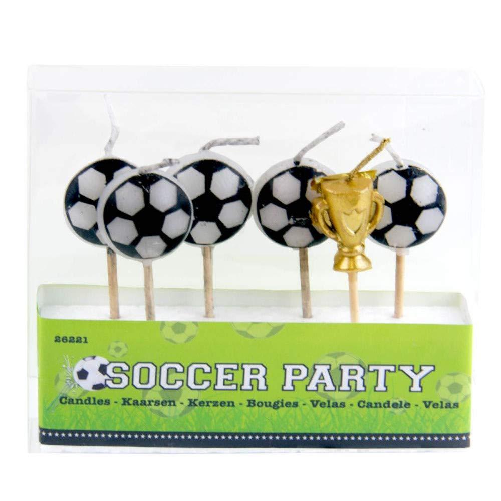 6 Mini de Velas * Balones + Copa * en Soporte de Madera para ...