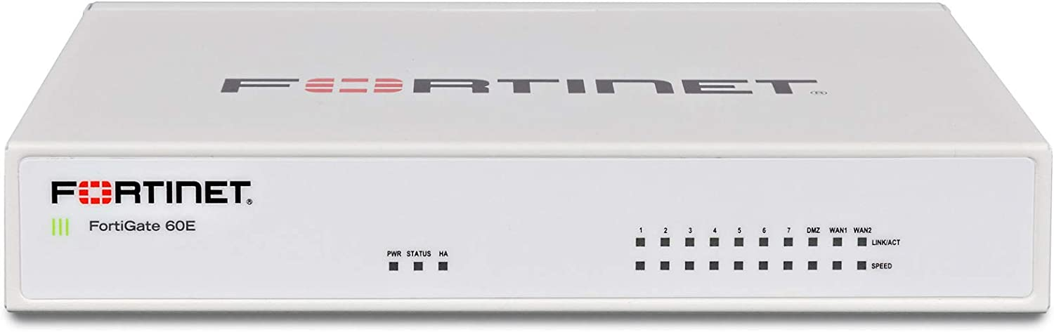 Fortinet FG-60E-BDL Fortigate Next Generation (Ngfw) Firewall Appliance Bundle with 8x5 Forticare and Fortiguard