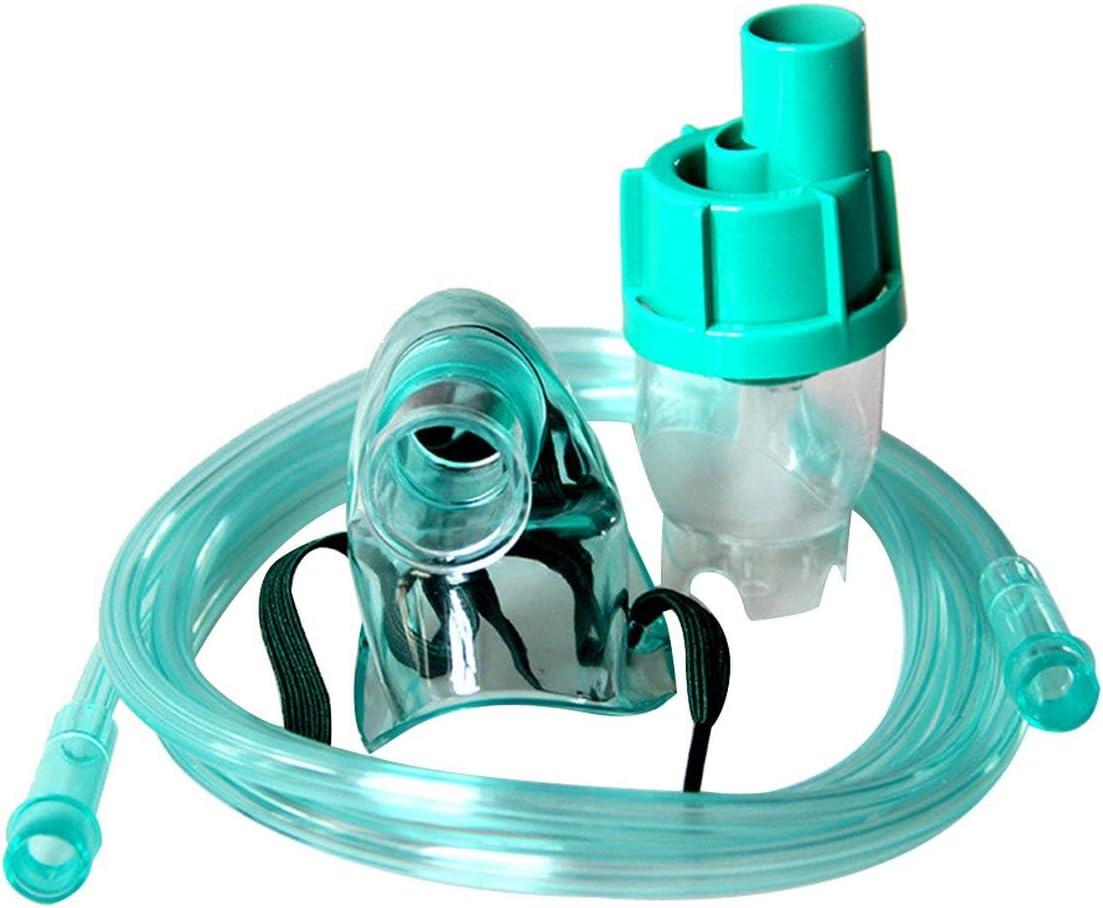 MXECO Hospital Nursing Home Máscara de oxígeno Máscara de enmascaramiento Máscara de oxígeno para Adultos Nebulizador líquido médico (Azul (Tipo de máscara para niños))