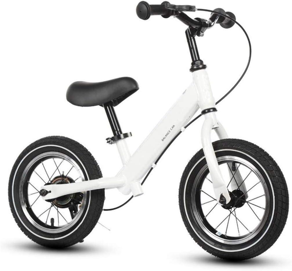 Andador de Bicicletas para Niños 12 pulgadas Bicicletas de equilibrio Niños Sin pedal Para caminar Aprendiendo bicicleta frenos Acero de alto carbono chicos chicas 2-6 años de edad Fácil de Retraer