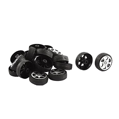 Ruedas de juguete - SODIAL(R)Rollo de plastico 2 mm diametro eje Ruedas