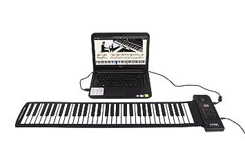 Emperor of Gadgets® Teclado de música electrónica portátil con USB | Flexible sintetizador MIDI Piano con 61 teclas flexibles de silicona: Amazon.es: ...