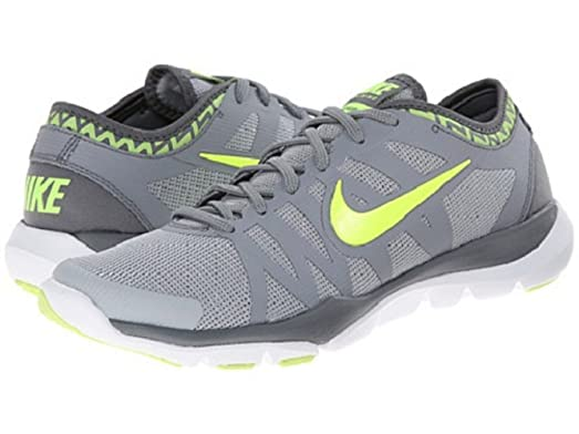Nike Women's Flex Supreme TR 3 Wide Training Shoe Wolf Grey/Volt/Stealth/