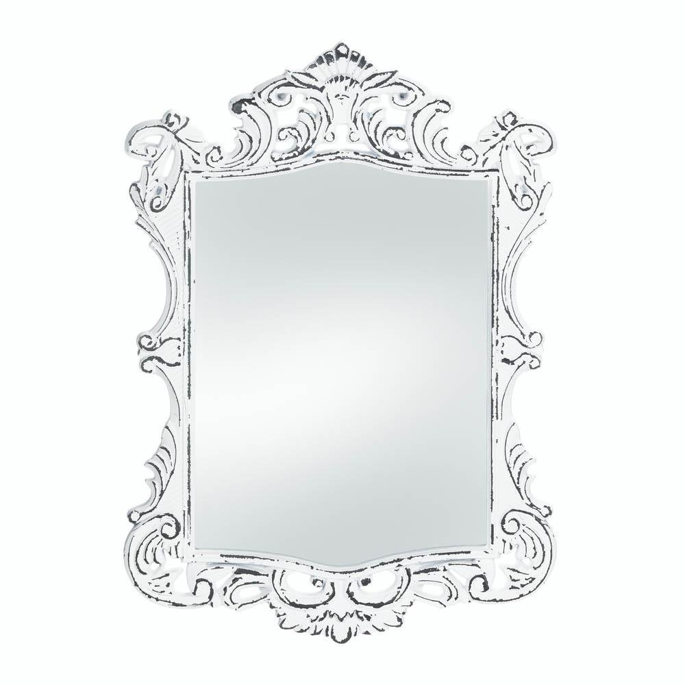 A Plus Thing Of Frameless Mirror Amazon.com: Accent Plus Mirrors for Wall Decor, Framed Square Unique Regal  White Etched Wall Mirror: Home u0026 Kitchen