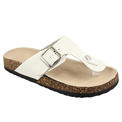 180530ded8c Image Unavailable. Image not available for. Color  Women Casual Buckle  Thong Strap Sandals Flip Flop Platform Footbed ...