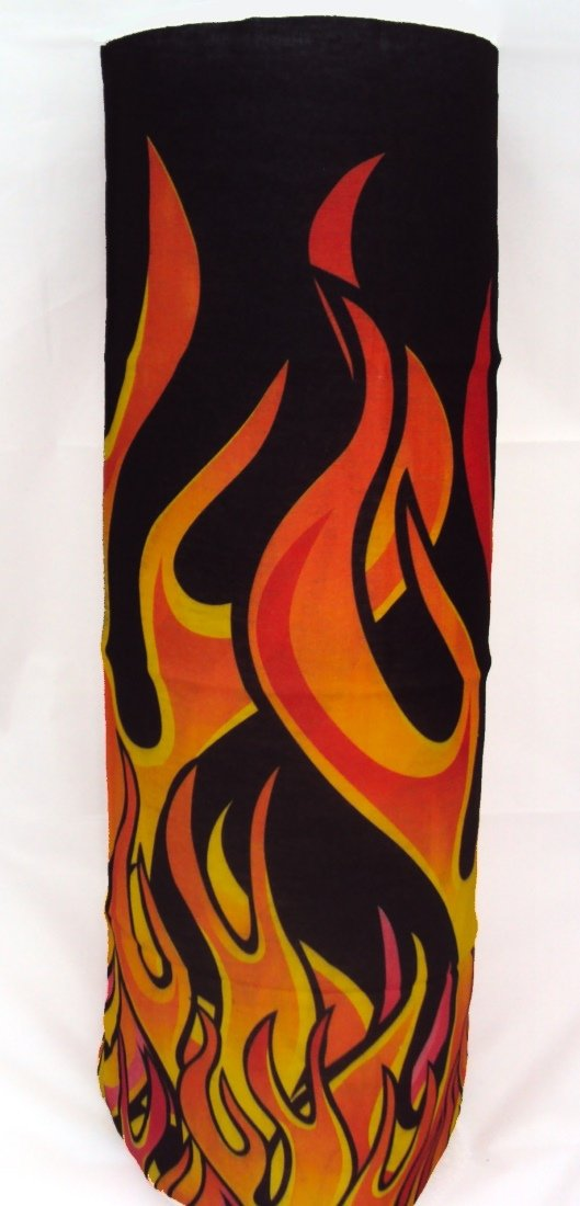 Winter neck warmer - orange flame pattern Warm Neck Company NW-416