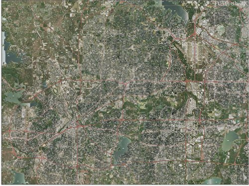 Aerial Topo Maps (Fort Worth Topo Map with Aerial Photography)