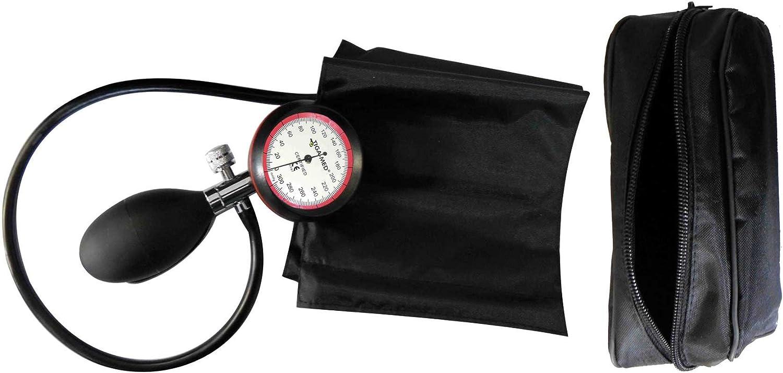 Tiga Med - Medidor de tensión arterial para parte superior del brazo (1 tubo, cierre de velcro y estuche)
