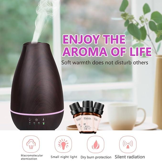 Toocoo luz Nocturna humidificador 500 ML Madera Vetas Aromatherapy ...
