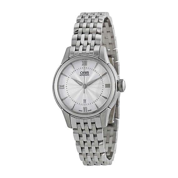 Oris Artelier Plateado Reloj de mujer con caja de acero inoxidable 561-7687 -4071 MB: Amazon.es: Relojes