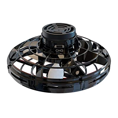 Flynova Flying Spinner,The Most Tricked-Out Flying Spinner,Hand Operated Drones for Kids Or Adults-Scoot Hands Free Mini Drone Helicopter with 360° Rotating and Shinning Led Lights (Black): Toys & Games