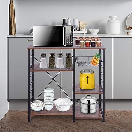 Amazon.com: QIANSKY 4 niveles + 3 estantes para hornos de ...