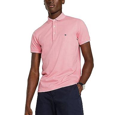 a71e97bd Tommy Hilfiger Men's Slim Fit Polo Shirt, Pink, XX-Large: Amazon.co ...
