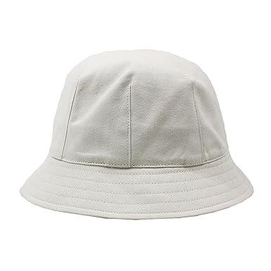 ACVIP Unisex Cotton Packable Round Crown Top Summer Travel Bucket Hat  (Beige) 983b277b973b