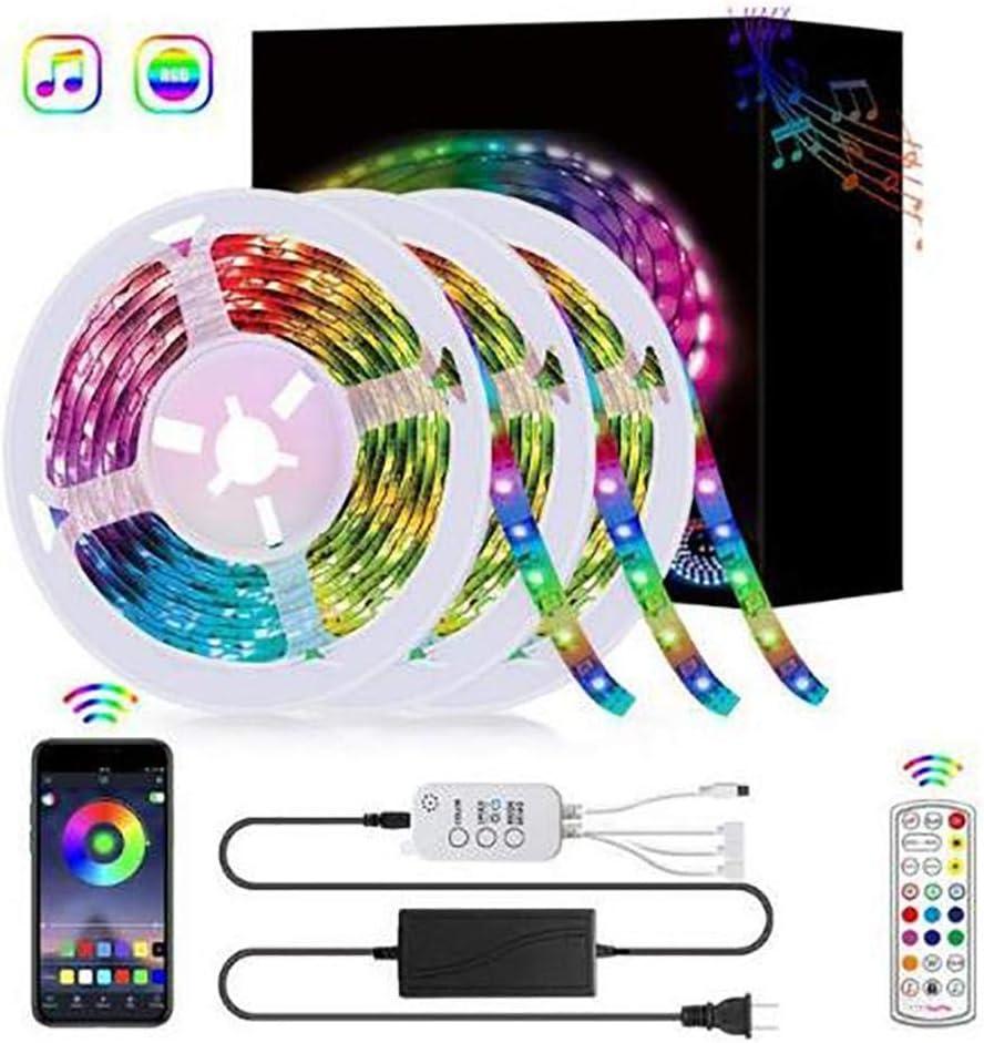 HOTUEEN RGB Music Light Strip Bluetooth Smart APP Controlled Waterproof LED Light Bar LED Bulbs