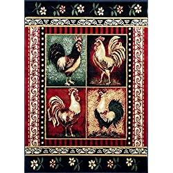 Rooster Style Area Rug 7 Ft. 7 In. X 10 Ft. 6 In. # L-379