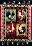 Cheap Rooster Style Area Rug 7 Ft. 7 In. X 10 Ft. 6 In. # L-379