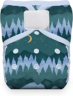 product image for Thirsties Reusable Cloth Diaper, One Size Pocket Diaper, Hook & Loop Closure, Mountain Twilight