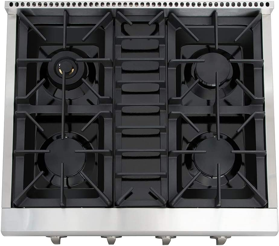 Stainless Steel HRT3618U Inch Thor Kitchen Pro-Style Gas Rangetop with 6 Sealed Burners 36