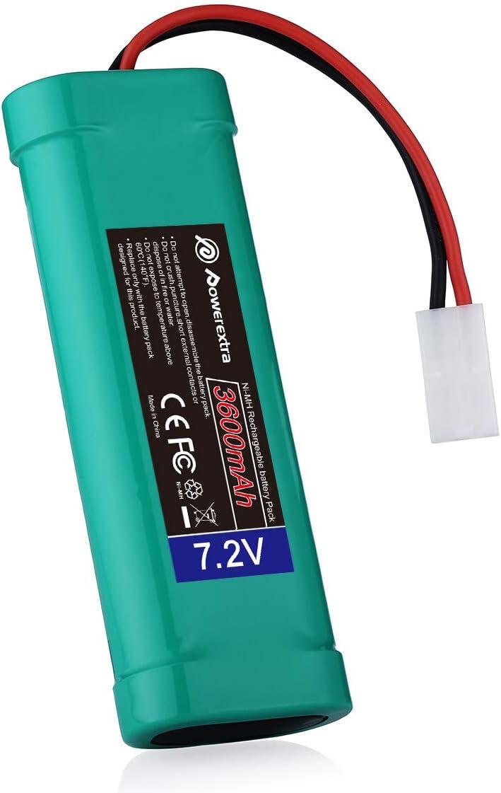 2 pcs accu 7.2V 3800mAh Ni-Mh rechargeable batterie RC Tamiya Plug