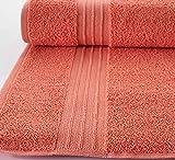 Hammam Linen Coral Orange Bath Towels 4-Pack