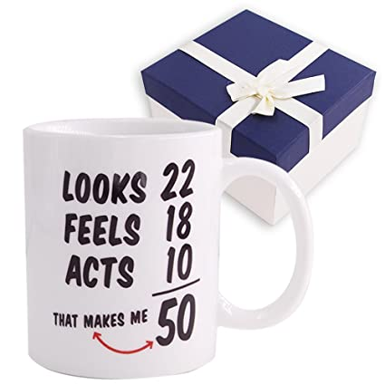 1968 50th Birthday Gifts Coffee Cups For Men Women Novelty Ceramic Mugs Anniversary Or Christmas