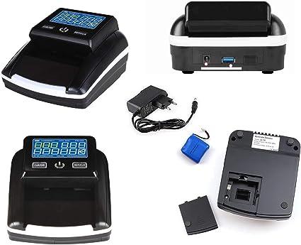 Rilevatore Banconote False EUR SEK con batteria conta banconote e somma l Total de los Aggiornabile compatibile con nuove banconote da 50//& # x20AC; GBP Yatek se-0350b