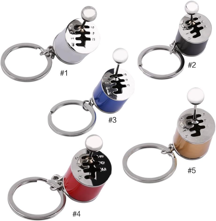 Cr/éatif voiture partie mod/èle Transmission Manette de vitesse Keychain Porte-cl/és Anneau Silber
