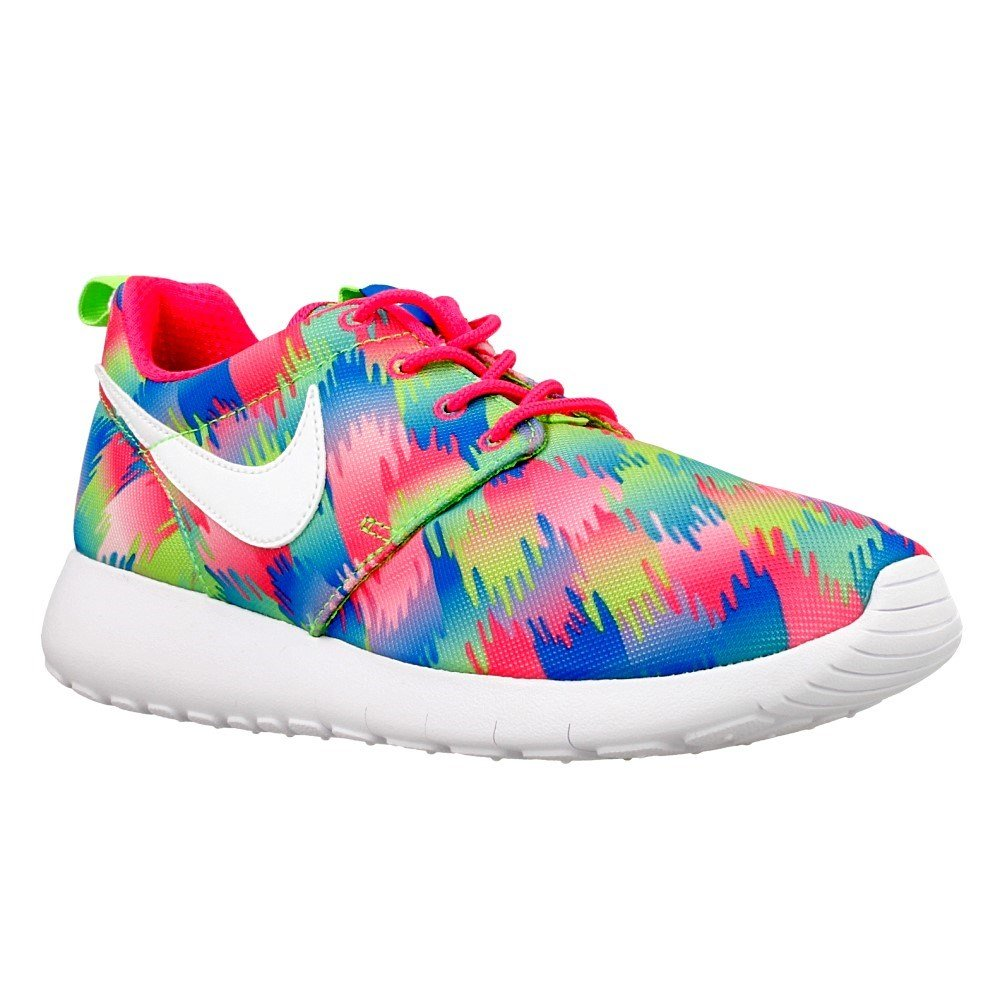 Nike - Roshe Uma Impressão De Cor Gs: Tamanho Azul-verde-rosa: 36,5