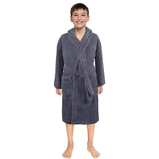 Amazon.com  NUWFOR Toddler Kids Baby Solid Bathrobe Cotton Plush Hooded  Bath Robe Towel Pajamas White  Clothing 014eb2208