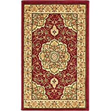Traditional Medallion 2 feet by 3 feet (2' x 3') Mashad Red Entry Way Home Decor Area Rug