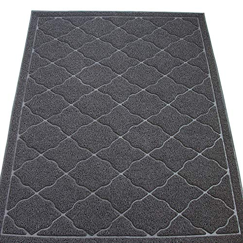 KW Pets Jumbo Size (47×35 in) Cat Litter Mat Non-Toxic, Easy to Clean Cat Litter Tracking – Best Kitty Litter Catcher…