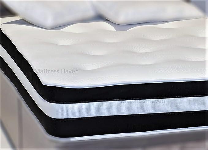 3 ft única de espuma de memoria colchón de muelles con tejido a tacto frío: Amazon.es: Hogar