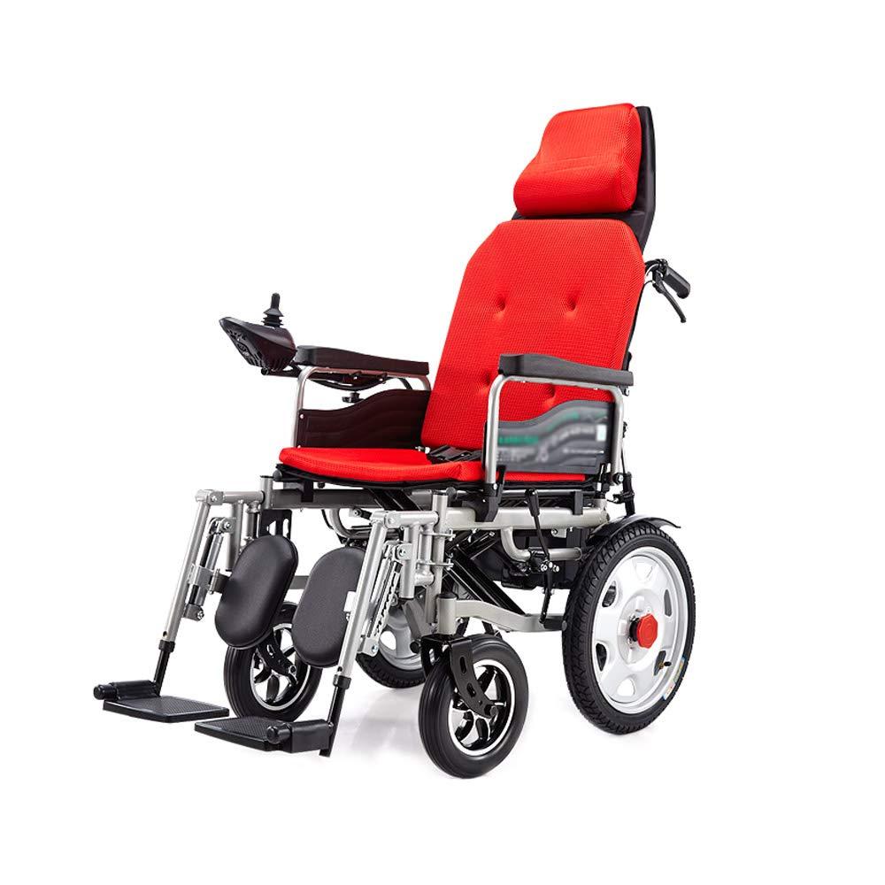【ラッピング不可】 電動車いす、折りたたみスマートな障害者の高齢者の四輪車椅子車椅子 B07GLCKX7M、横に横たわる、荷重100kg、EPBSブレーキシステム 簡単な操作 (色 (色 : Red) 簡単な操作 Red B07GLCKX7M, ウタツチョウ:8f92ec6f --- a0267596.xsph.ru